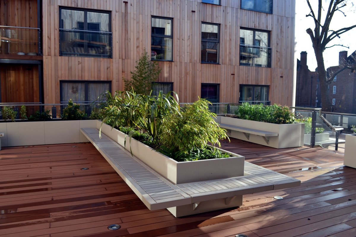 Residential Rooftop Gardens roof planters & modular green roof planter rooftop garden planters