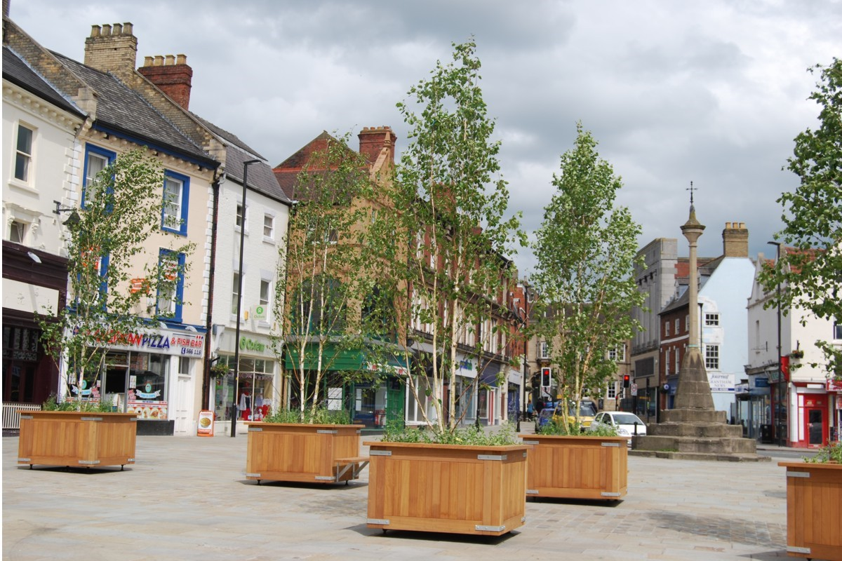 Movable Planters Street Design Picture Gallery