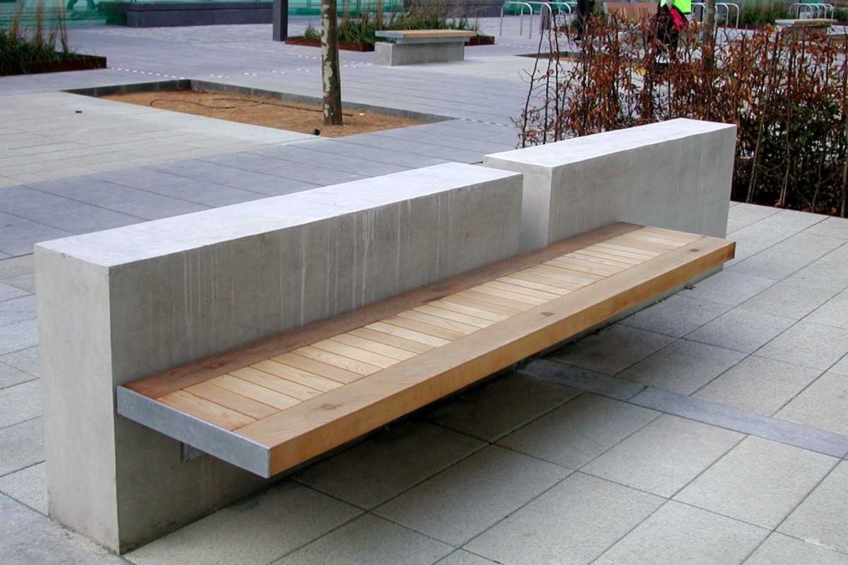 White City Media Centre - Planters and Seating.