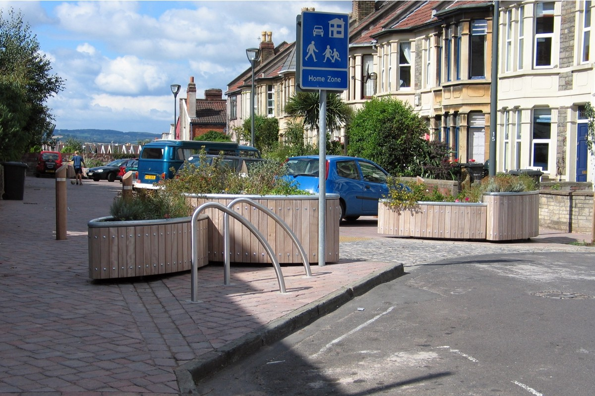 Home Zone Design Cardiff Part - 17: ... C12808 - Planters, Seating, Cycle Stands And Bollards Supplied To  Bristol Home Zone Scheme ...