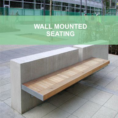 Wall mounted seating by Street Design