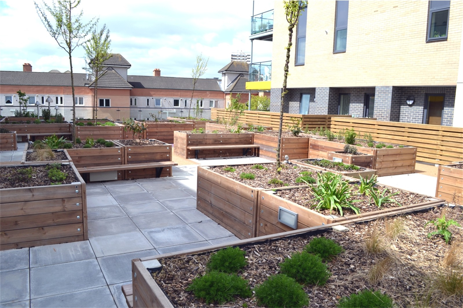 Grenadier Roof Garden Planters Street Design