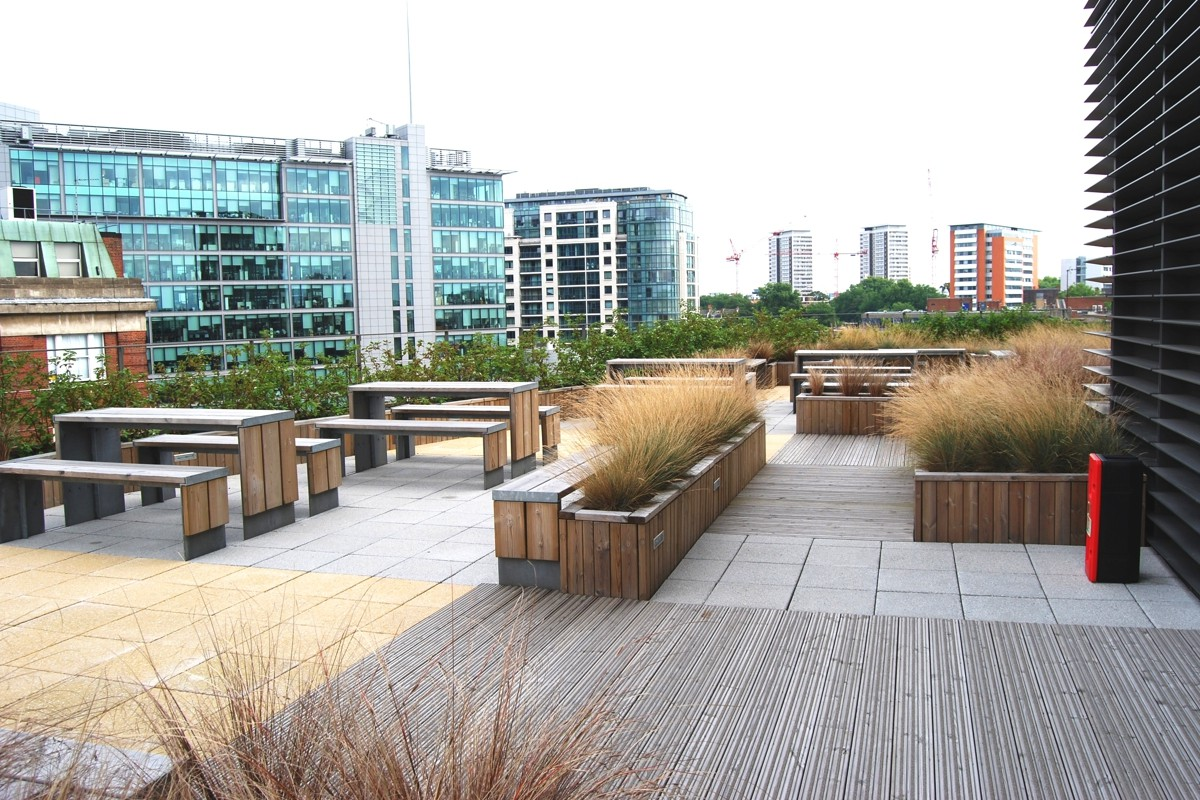Telstar Project Page - Planters, Seating & Street Furniture